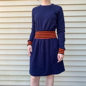 Marc Jacobs Navy Orange Sweatshirt Dress